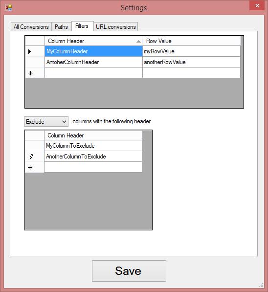 JSON to CSV Desktop Edition - Documentation